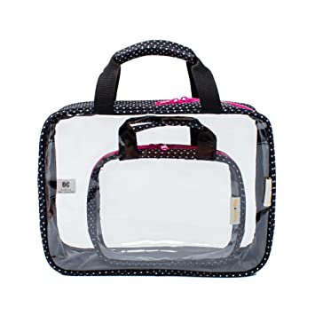 8ee2cf9d8c2b Amazon.com   Clear Toiletry Bags 2 Pack - Full Size Bottles Toiletry  Organizer AND TSA Approved Clear Travel Toiletry Bag   Beauty