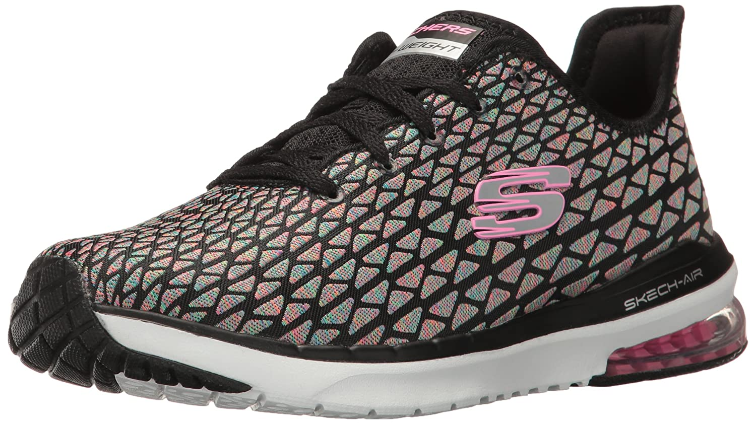 Skechers Sport Women's Skech Air Infinity Free Falli Fashion Sneaker B01N3YP8GZ 6 B(M) US|Black/Multi