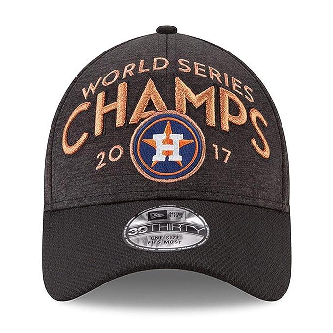 c0ab4e75ba5 Amazon.com   New Era Houston Astros 2017 World Series Champions Locker Room  39THIRTY Flex Hat Graphite   Sports   Outdoors