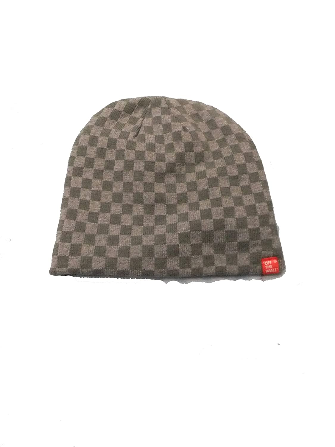 ea79284f4c Vans Reversable Grey Checkered Beanie at Amazon Women s Clothing store