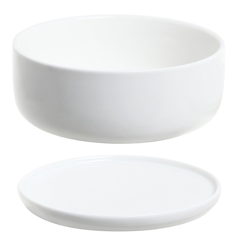 Very best Amazon.com: 6 inch Modern White Ceramic Round Designer Succulent  QS96