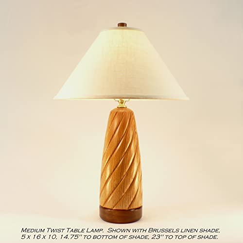 Amazon Com Wood Table Lamp Desk Lamp Accent Lamp Twist Butternut