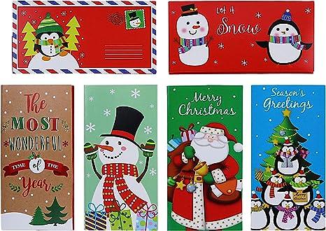 Amazon.com: Juego de 30 tarjetas de regalo de Navidad con ...