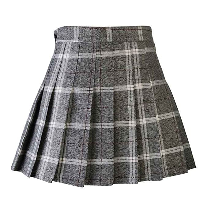8e735e372be5 Women Pleat Skirt Harajuku Preppy Style Plaid Skirts Mini Cute School  Uniforms Ladies Jupe Kawaii Skirt Saia F at Amazon Women's Clothing store: