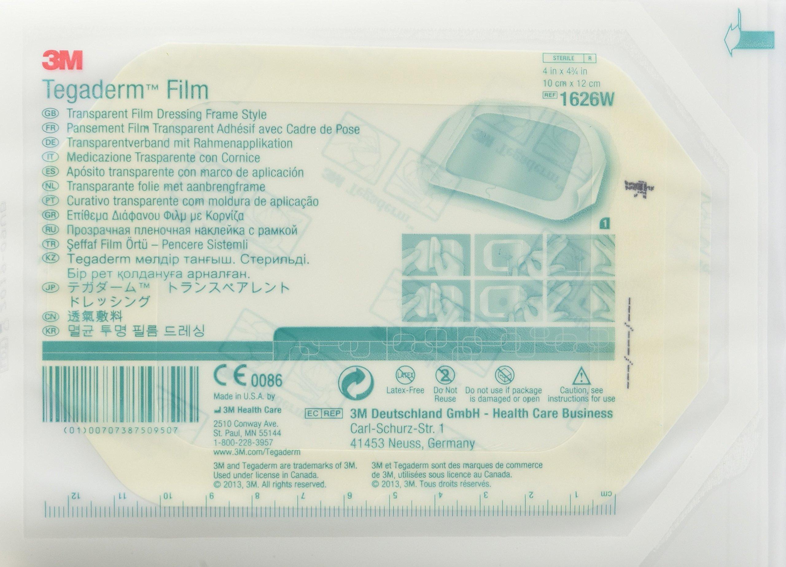Amazon Com 3m Tegaderm Transparent Film Dressing 4 X 4 3 4