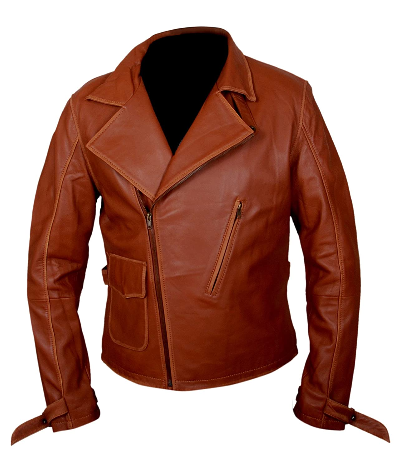 Captain America First Avenger Brown Faux Leather Jacket - DeluxeAdultCostumes.com