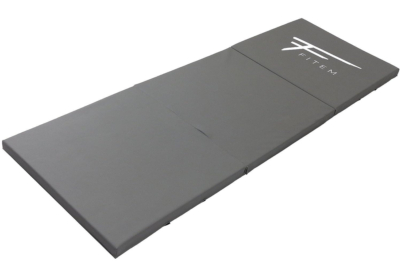 Fitem - Colchoneta para gimnasia, gruesa, de gama alta, dos tamaños a elegir (240 x 120 x 4 cm o 180 x 60 x 4 cm), con asas de transporte, para ...