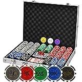 Poker Chips Set 500PCS Professional Poker Set 11.5 Gram Casino Chips with Denominations, for Texas Holdem Blackjack Gambling