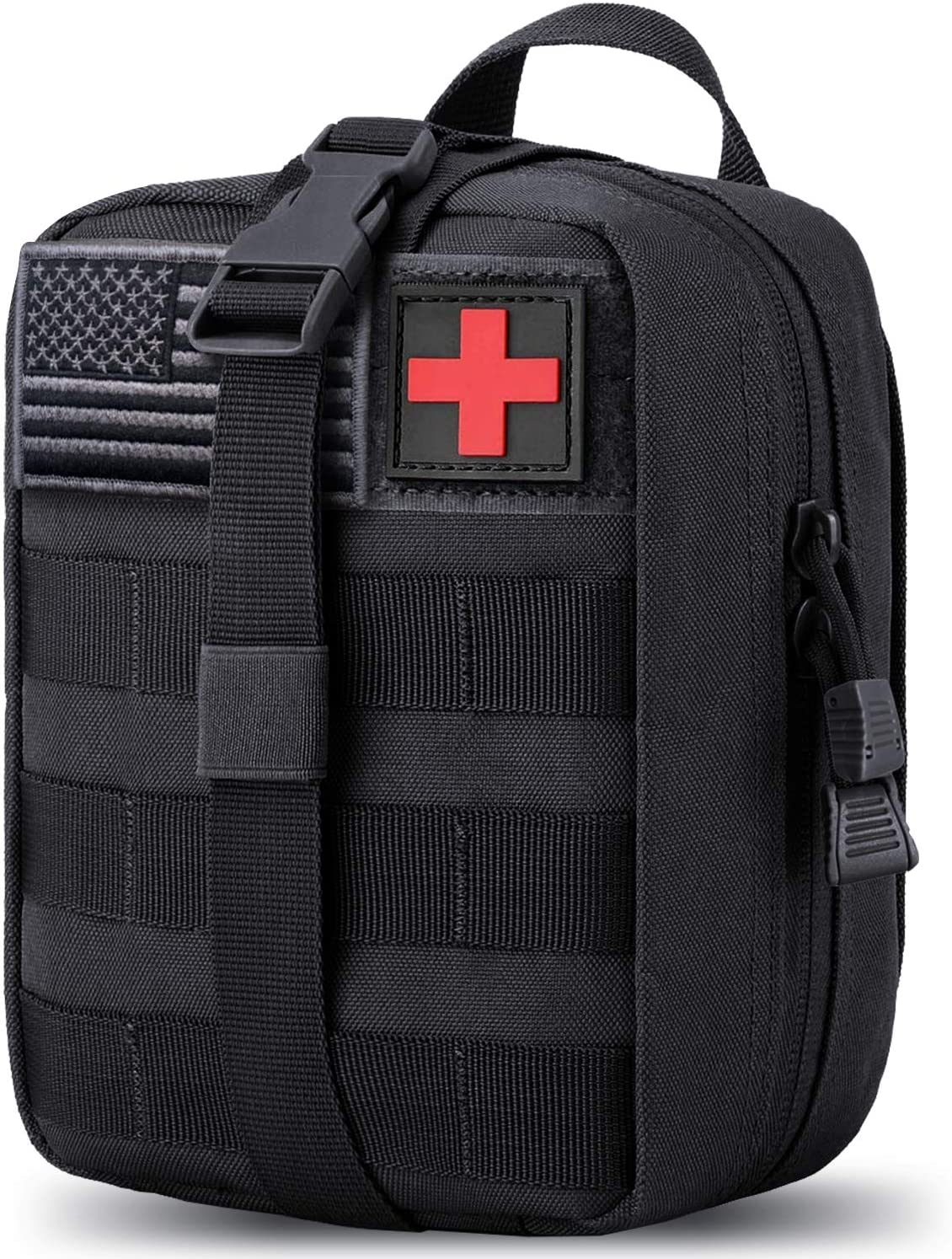 MEQI Medical MOLLE Tactical Pouch, EMT First Aid IFAK Rip-Away Utility Pouch for Camping Hunting Hiking Home Car and Adventures (Ink Black) : Sports & Outdoors