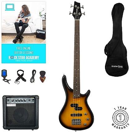 Stretton Payne - Guitarra eléctrica S1-Bass (cuello de arce ...