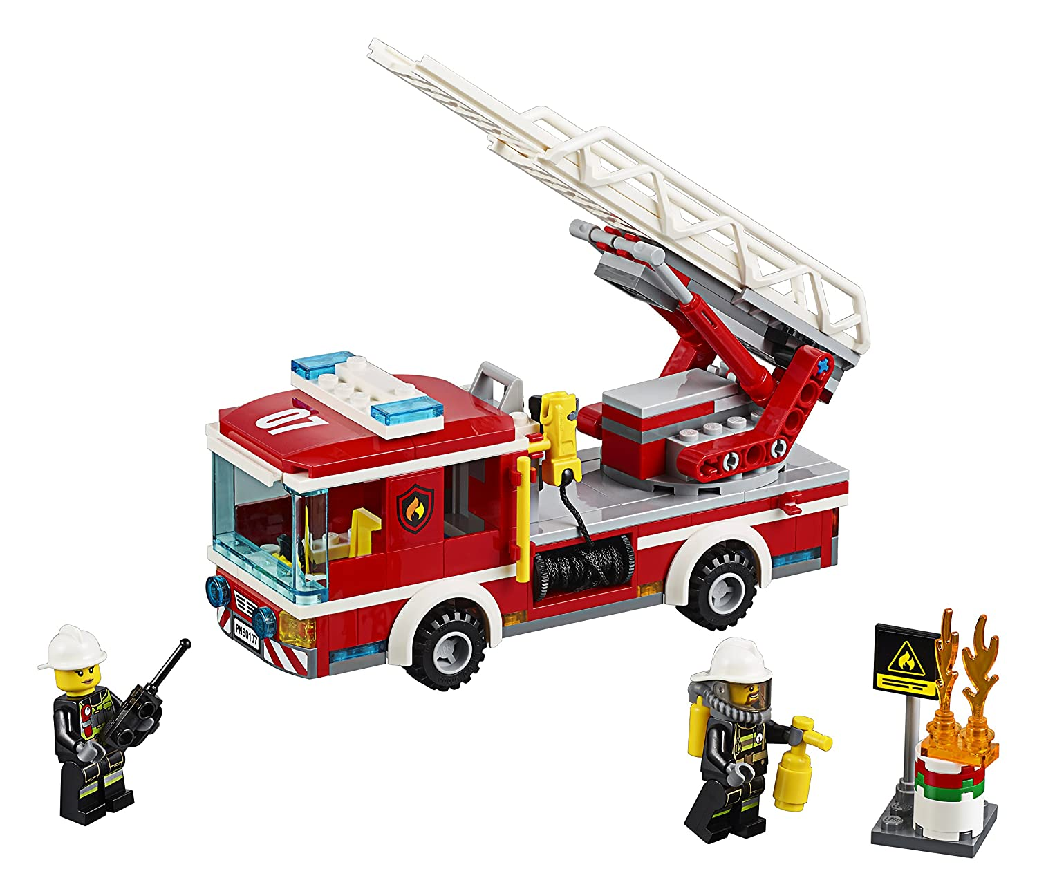 lego city fire ladder truck 60107 playset toy amazoncomau toys games - Camion Lego