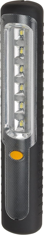 Brennenstuhl LED Taschenlampe mit Akku/Akku Handleuchte mit Dynamo zum Aufladen (mit 6 hellen SMD-LED und 9 Stunden Leuchtdauer) Farbe: schwarz 1178590