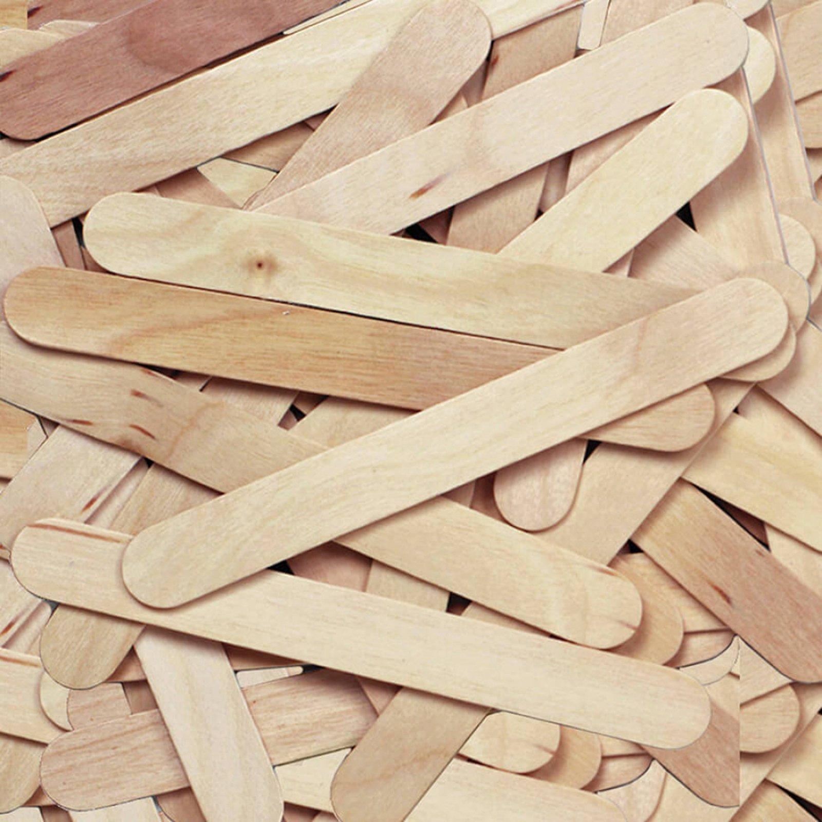 Creativity Street Jumbo Craft Sticks, Natural, 6'' x 0.75'', 500 Per Pack, 2 Packs