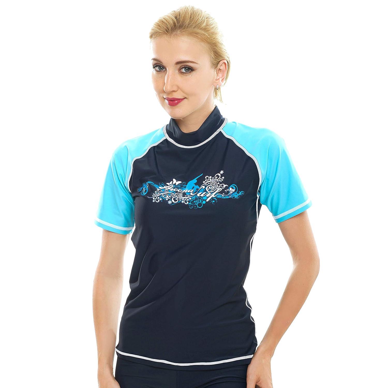 Padilla SWIMWEAR レディース X-Large Short Sleeve - Dark Blue B071YBQ7WT
