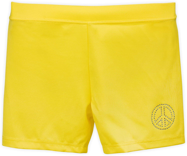 3-Pack 9//10 Hello Yellow Gymnastics /& Dancewear Lucky /& Me Ella Girls Dance Shorts