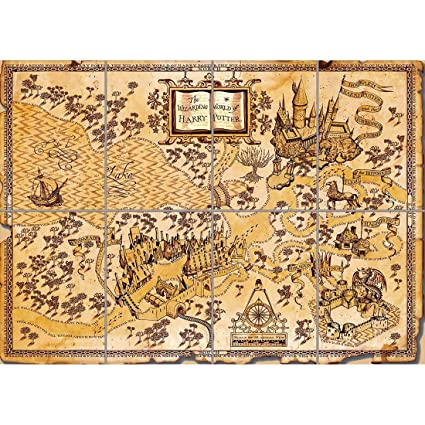 Harry Potter 'Wizards World Map\' Karte in 80689 Munich for ...