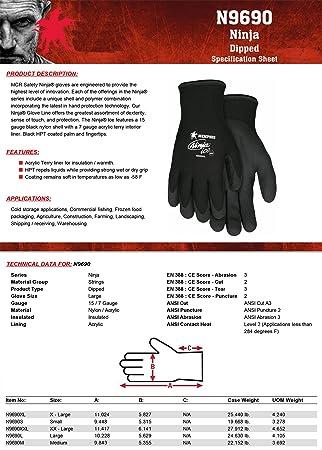 Memphis Glove N9690S Ninja - Guantes de doble capa (nailon ...