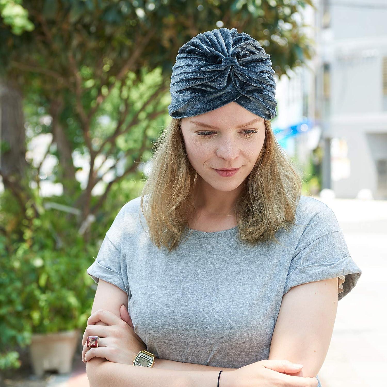 Gypsy Costume Mens Velvet Genie Boho Hat CHARM Womens Fortune Teller Turban