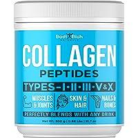 Collagen Powder - Enhanced Absorption Collagen Peptides Powder - Multi Collagen for Hair, Skin & Nails - Bovine Collagen Supplements - Hydrolyzed Collagen Powder for Bones, Muscles & Joints