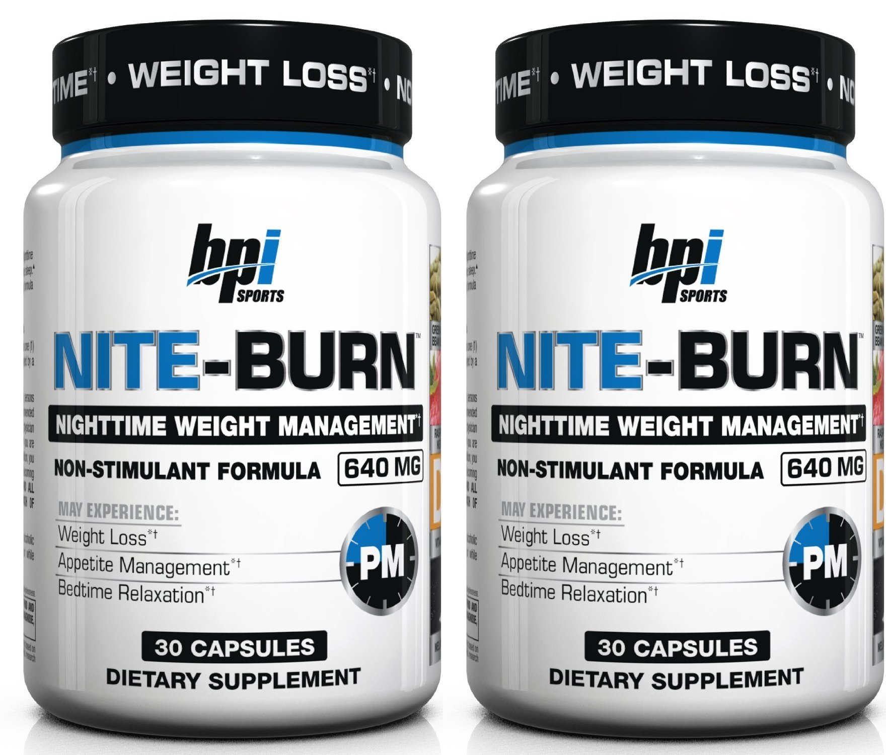 BPI Sports Nite Burn Nighttime Weight Management Formula, 30-count (30 X 2)