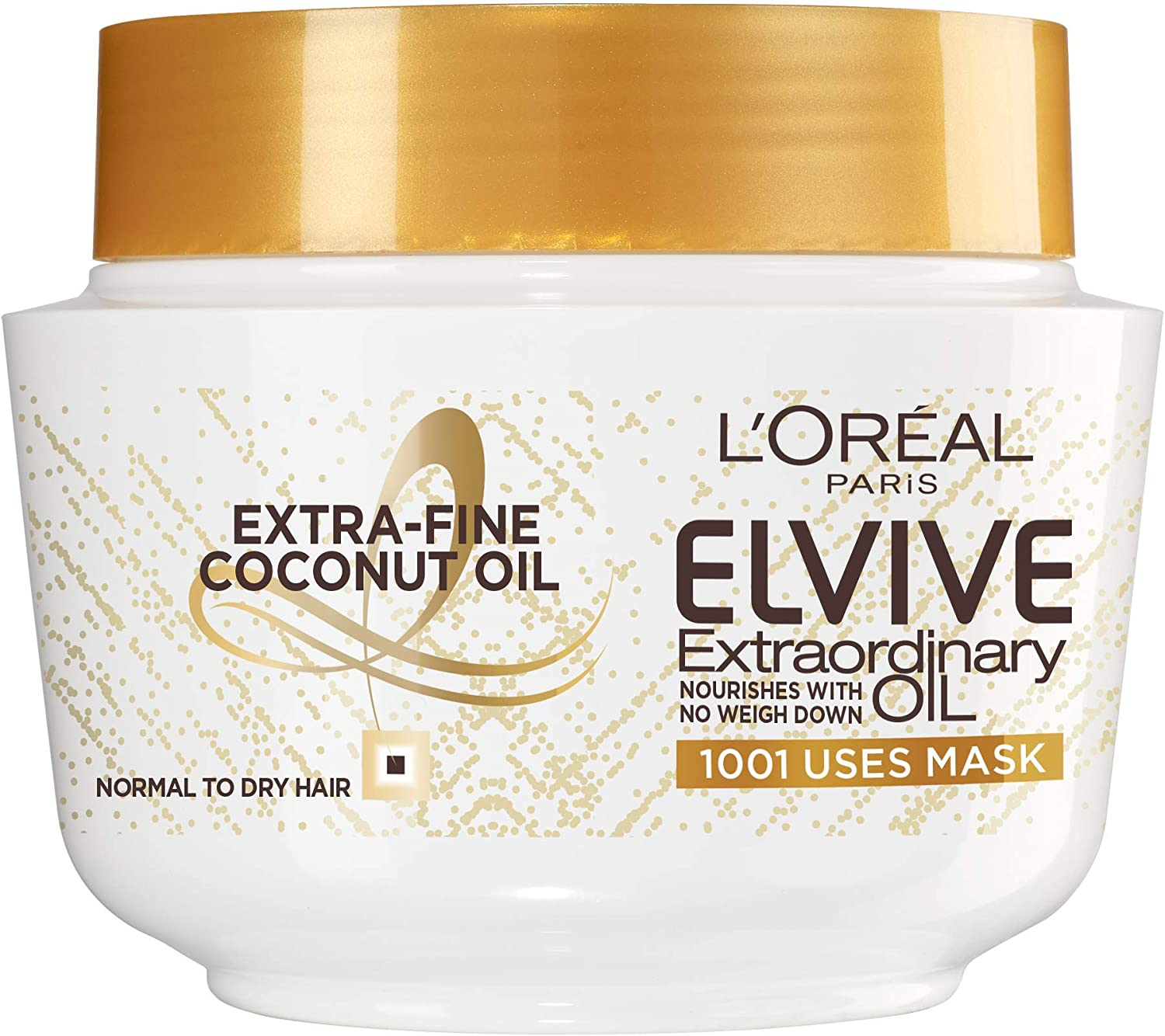 L Oreal Elvive Extraordinary Oil Coconut Hair Mask Leave In Conditioner For Normal To Dry Hair 300ml Amazon Co Uk Beauty