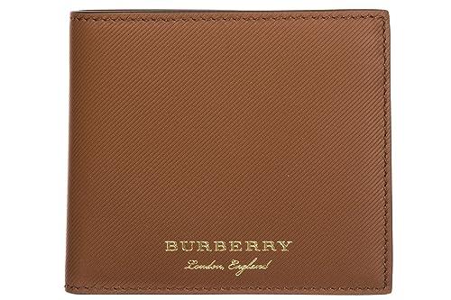 Burberry cartera billetera bifold de hombre en piel nuevo Reg Ccbill8 marrón: Amazon.es: Zapatos y complementos