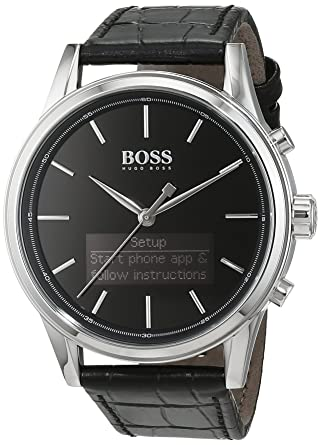 4fb175857 Amazon.com: Hugo Boss 1513450 Men's Boss Classic Smartwatch: Watches