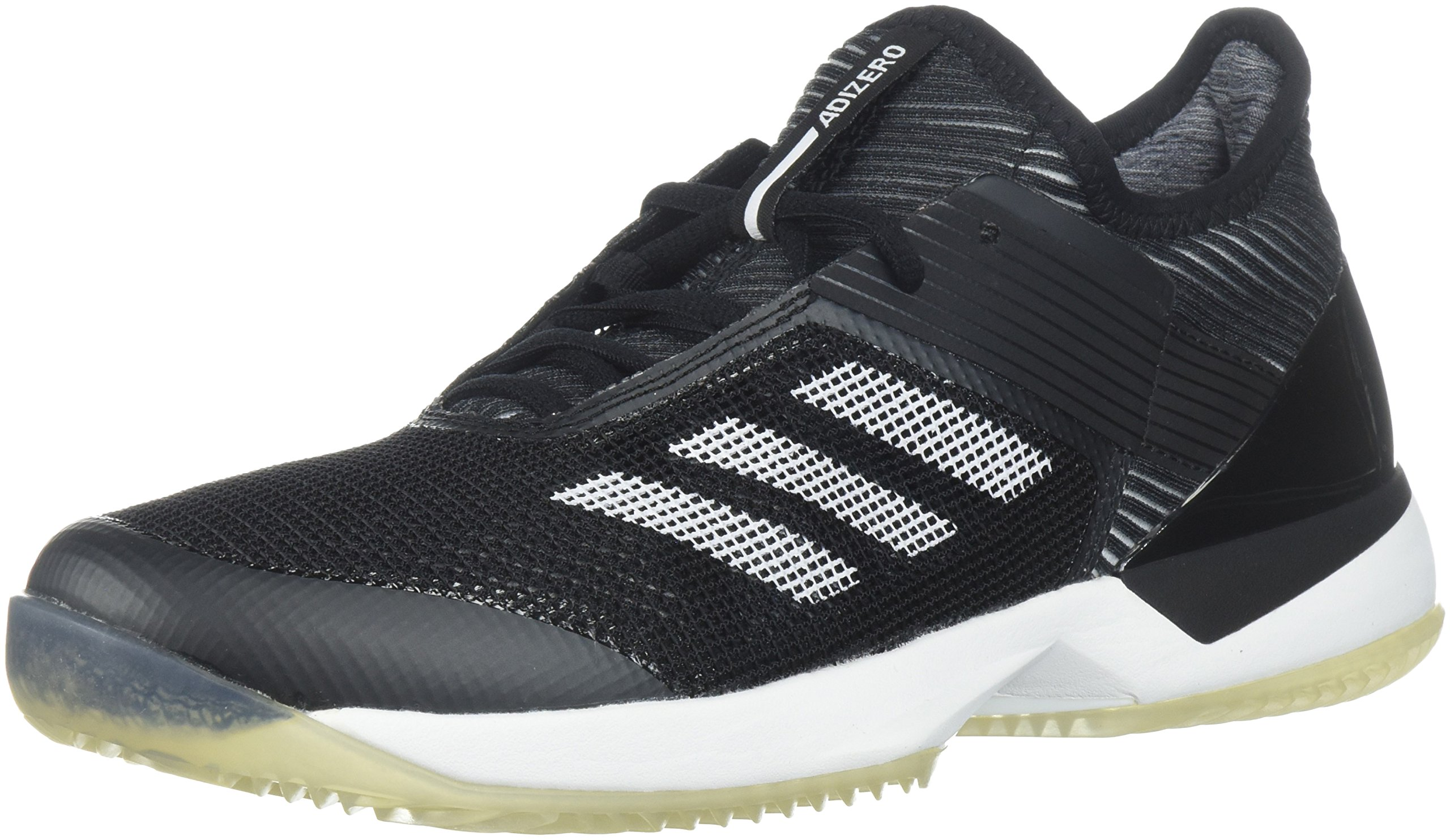 adidas Women's Adizero Ubersonic 3 w Clay Tennis Shoe, Core Black/White/Core Black, 8 M US