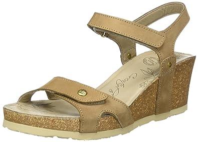 PANAMA JACK Julia Roses Damen Sandaletten Wedges Braun Größe 39 Zflzkg
