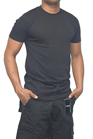 ba6f267f Amazon.com: Gman T-Shirts Round Neck Short Sleeve 100% Cotton (3-Pack):  Clothing