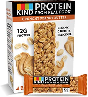 product image for KIND Protein Bars, Crunchy Peanut Butter, Gluten Free, 12g Protein,1.76oz, 24 count