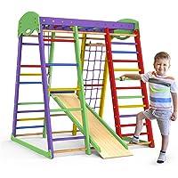 Indoor Playground Toddler Climber Slide – Kids Jungle Gym Playset – Activity Toddler Climber Structure – Play Gym…