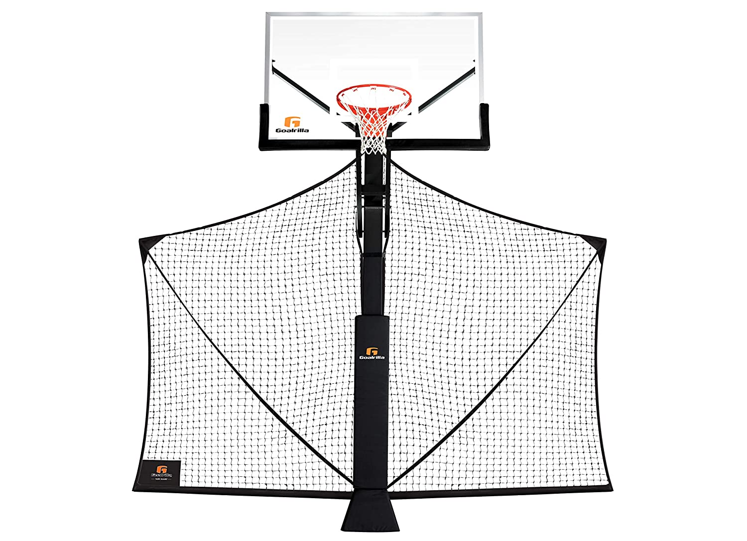 Image of Basketballs Goalrilla Basketball Yard Guard Easy Fold Defensive Net System Quickly Installs on Any Basketball Hoop