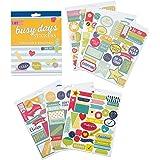 Adesivi per planner Busy Days e scrapbook di Boxclever Press. Adesivi colorati a tema organizzazione e promemoria (186 tot). Adesivi per scrapbooking, bullet journal e scrapbook