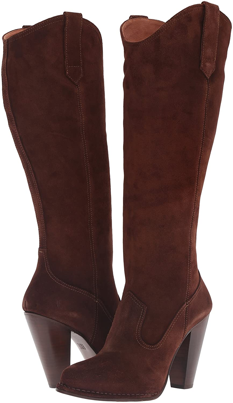 FRYE Women's Madeline Tall Western Boot B01BOWSCY8 8.5 B(M) US|Brown