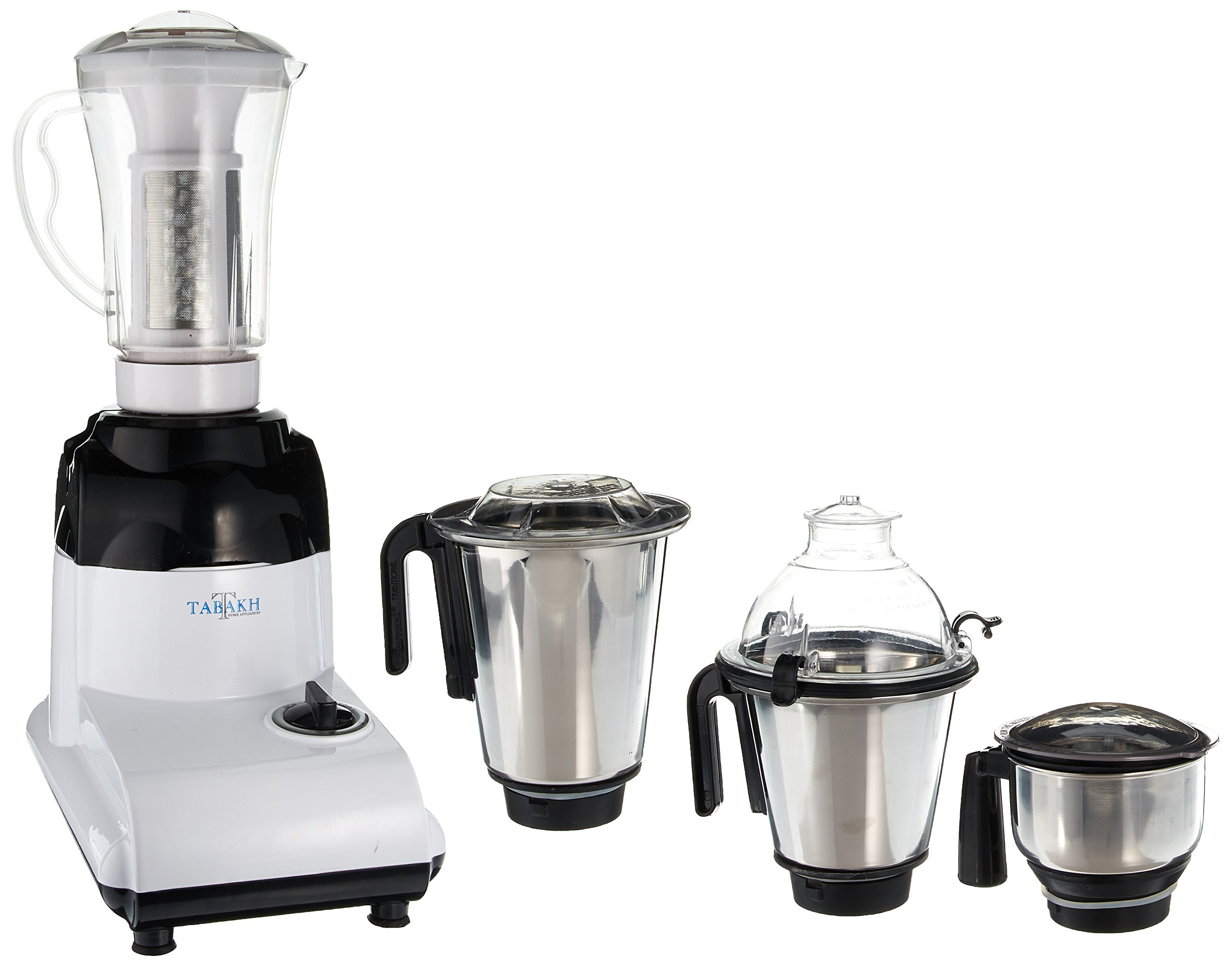 Tabakh D-Lite Pro Indian Mixer Grinder | 3-Jar + Juicer | 750 Watts | 110-Volts