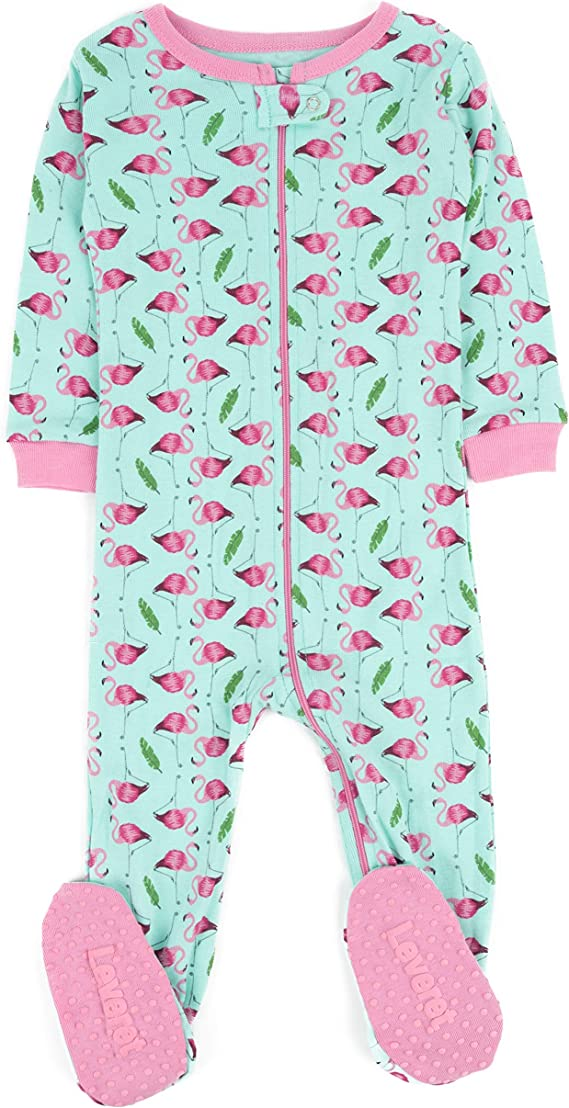 Size 12-18 Months Leveret Kids /& Toddler Boys Girls Footed Pajamas 100/% Cotton Moon