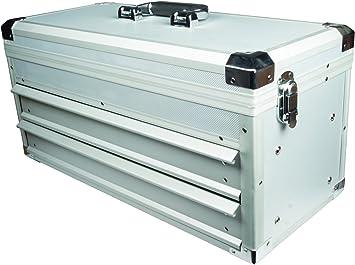 Caja de herramientas Maplin aluminio 2 cajones de almacenamiento caja de herramientas deslizante para herramientas con cerradura: Amazon.es: Electrónica