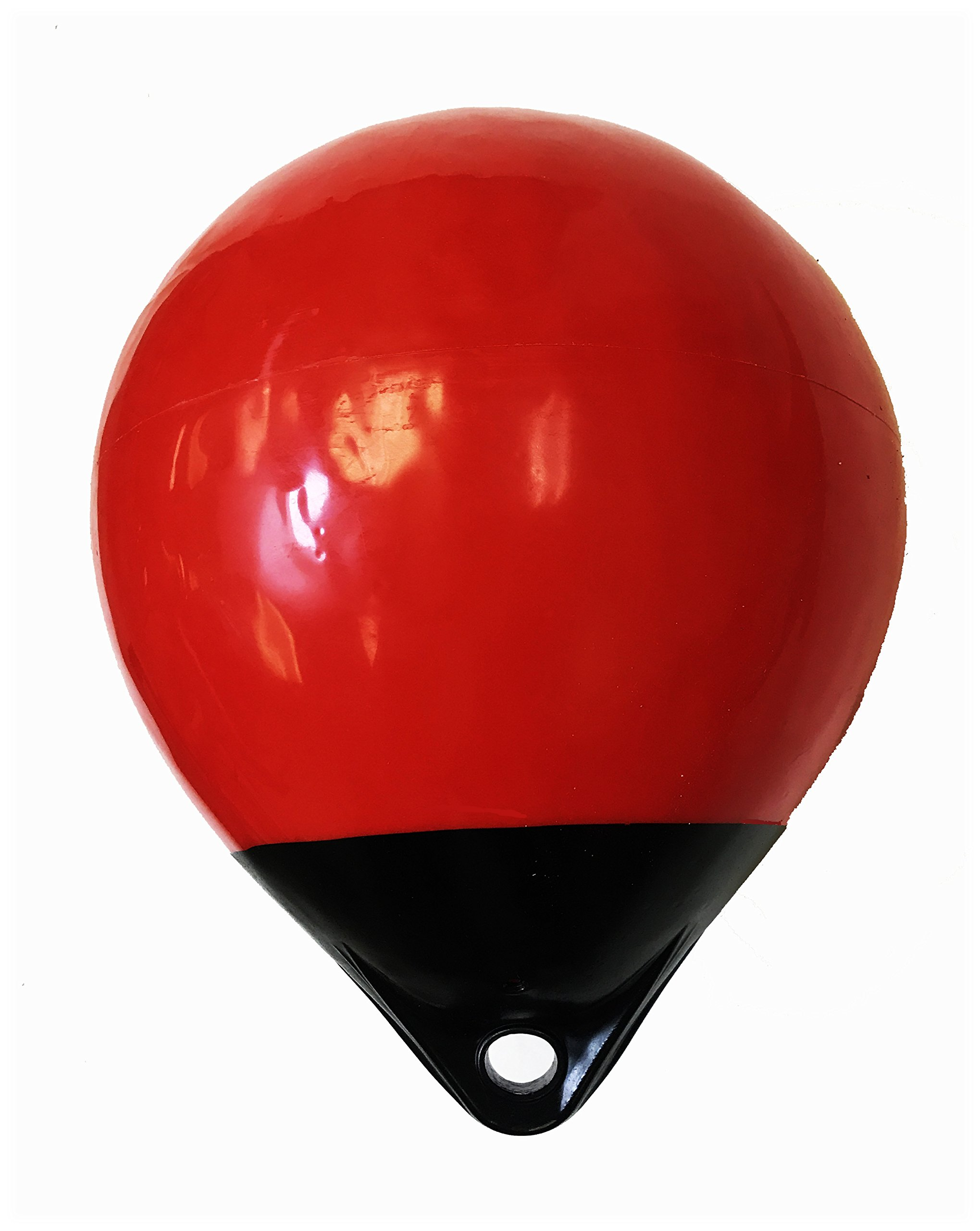 KUFA 12'' Diameter (Inflated Size: 12'' x 15'') Mark Buoy Mooring Buoy Anchor Lift Buoy A30, Red/Black