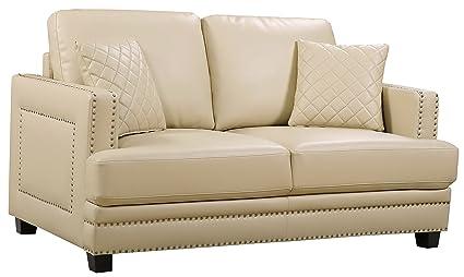 Tremendous Amazon Com Meridian Furniture 655Be L Ferrara Leather Squirreltailoven Fun Painted Chair Ideas Images Squirreltailovenorg