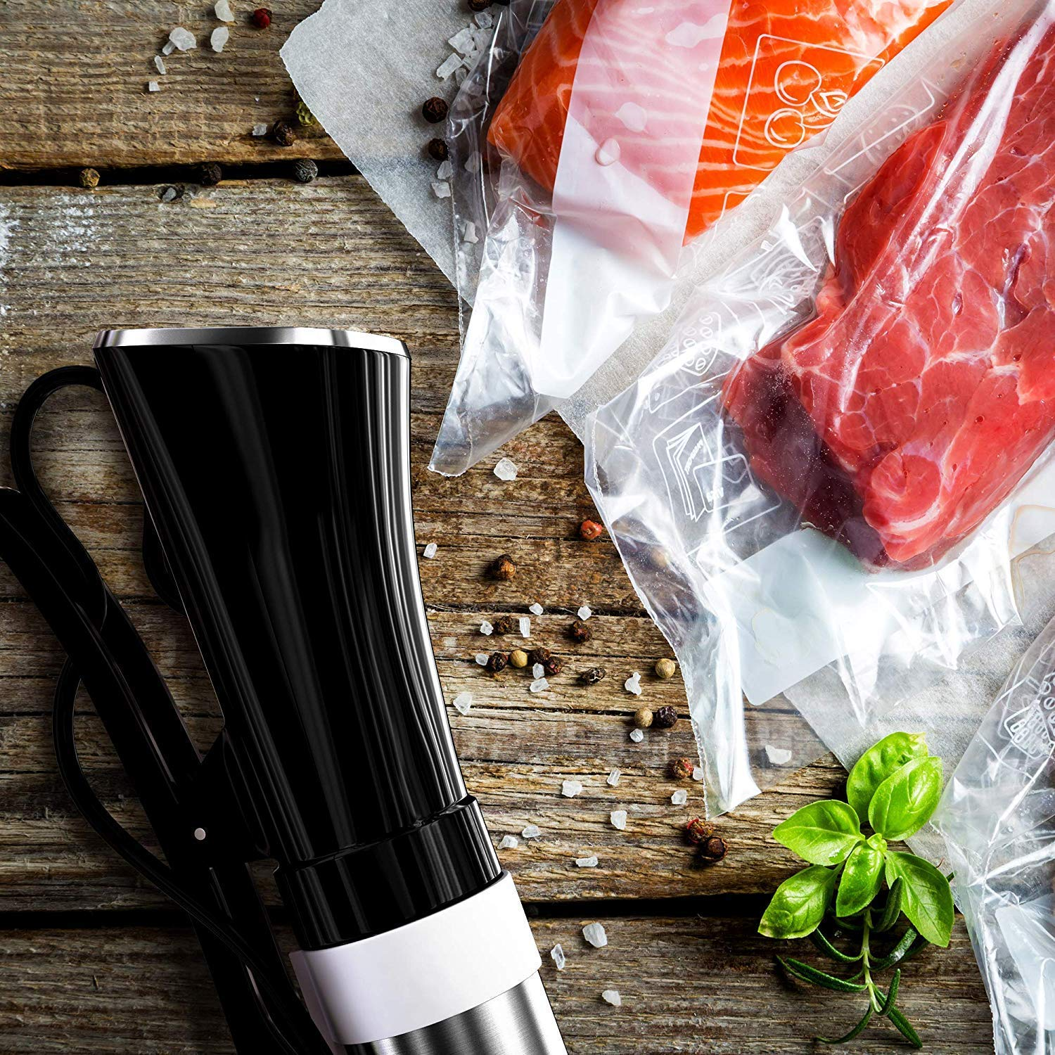 Malaha Sous Vide Cooker 1000W - Immersion Circulator - Professional Machine - Sous Vide Vacuum Heater - Accurate Temperature Digital Timer - Ultra Quiet Working Cooker by Malaha (Image #8)