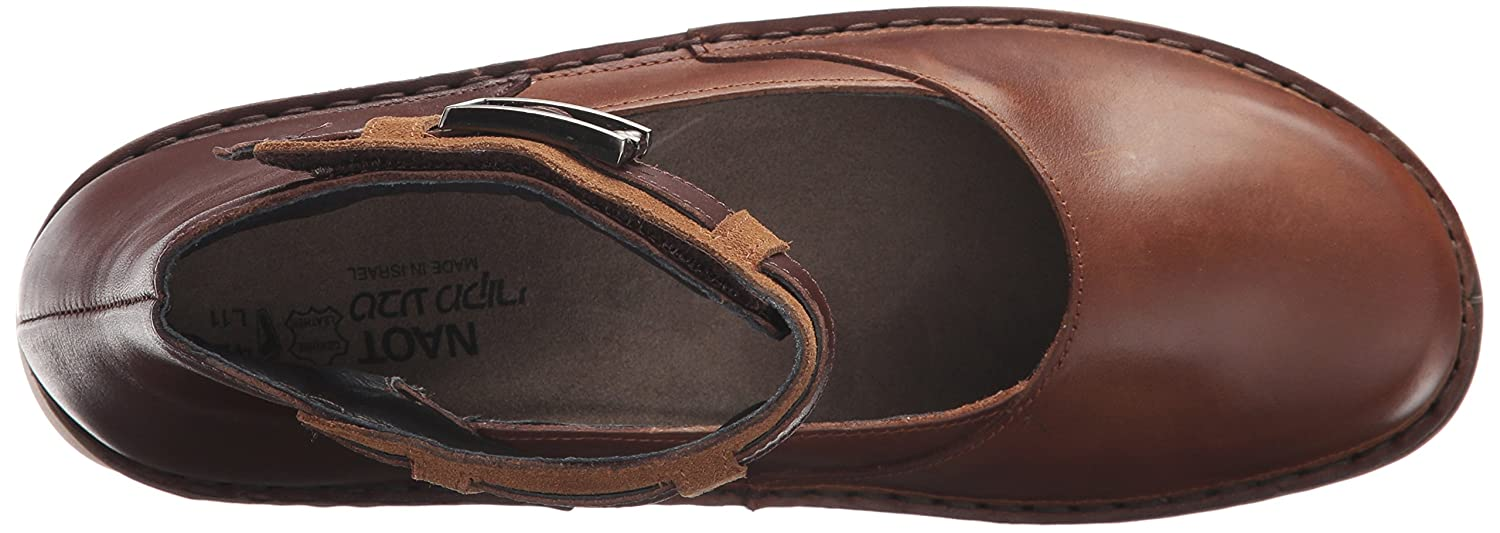 NAOT Women's Sycamore Mary Jane Flat B01N24P4BB 38 Medium EU (7 US)|Vintage Camel Leather/Toffee Brown Leather/Desert Sued