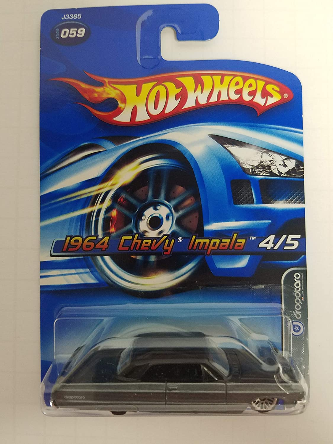 1964 Chevy Impala Dropstars 4/5 No. 059 Hot Wheels 2006 1/64 scale diecast car