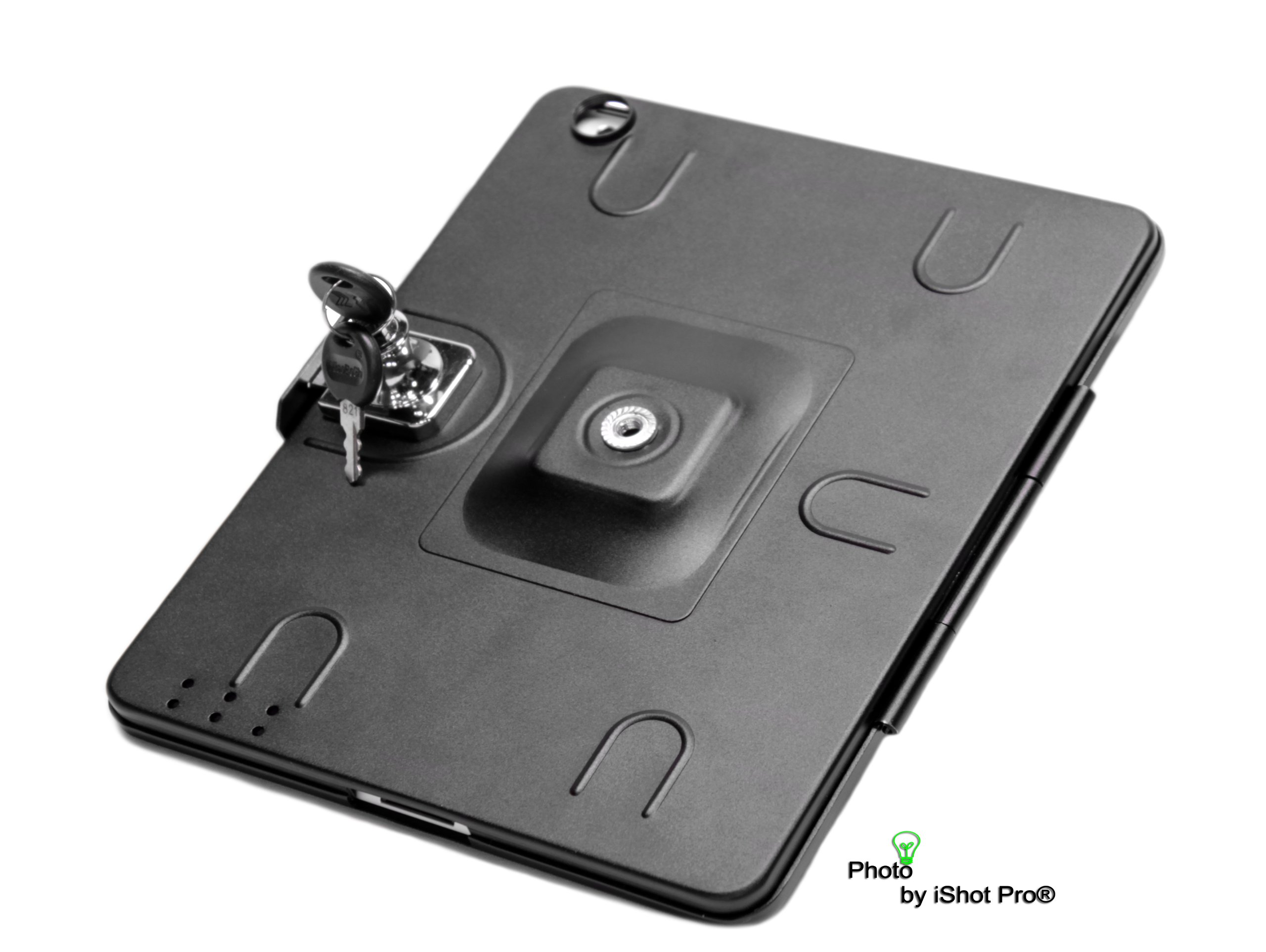iShot G9 Pro iPad 2 3 4 Gen. Tripod Mount Adapter Holder Attachment - Easily and Safely Mount your iPad 234 to Any 1/4 inch Thread Standard Camera Tripod You Already Use - All Metal Custom Fit Frame
