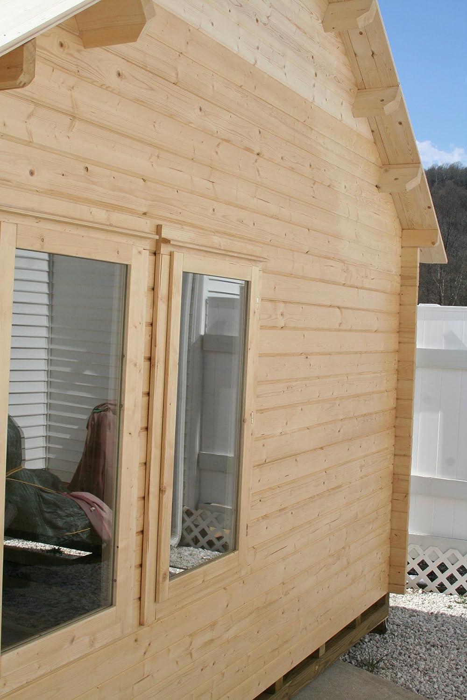 amazon com bzbcabins com lakeview log cabin kit garden u0026 outdoor