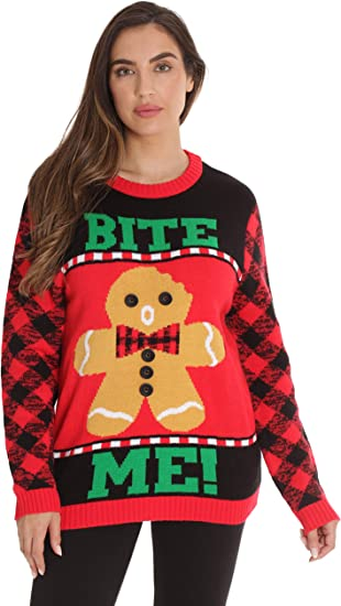 L Ugly Christmas Sweater Company Womens Assorted Pullover Xmas Sweaters Black Life of The Party