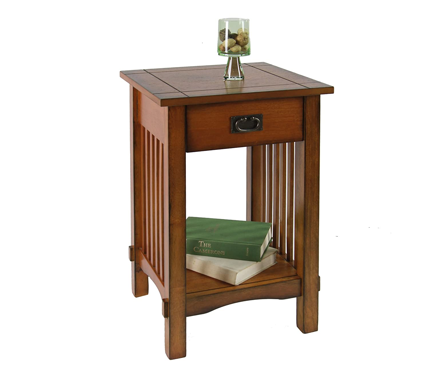 End table with drawer - Amazon Com Furniture Of America Liverpool 1 Drawer End Table Antique Oak Kitchen Dining