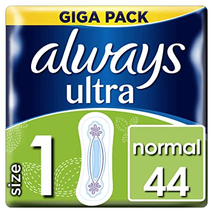 Always Ultra - Toallas sanitarias, normal (tamaño 1), 3 paquetes (132