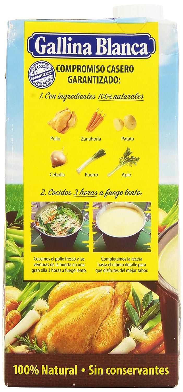 Gallina Blanca - Caldo casero de pollo - 100% natural - 1 l - [pack de 2]: Amazon.es: Alimentación y bebidas