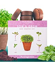 The Beginner's Kit to Grow 4 Types of Microgreen Sprouts from Seed. 10 Day Results. Plant an Organic Indoor Vegetable Garden with Ease. Sprouting Growing Set W/Arugula Seeds, Basil, Beets & Chards
